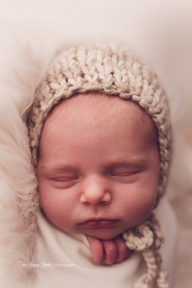 20160312-Two Happy Lambs Photography-Central-Coast-Newborn-Photos-Baby-Studio-Props-bonnet-hat-knit-potato-sack-California